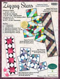 Nähanleitung *Zigzag Stars* Wilmington Prints Wall Gems or Jewels 580-58-580