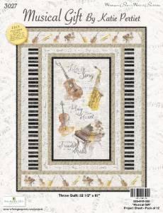 Nähanleitung *Musical Gift* by Katie Pertiet Wilmington Prints Throw Quilt 52 1/2 Inch x 67 Inch  642-555