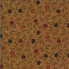 Patchworkstoff Gold Cornflowers Kornblumen rot blau lila grün goldbraun Blumen 9642-12