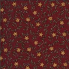 Patchworkstoff Red Cornflowers Kornblumen gelb orange grün rot Blumen 9642-13