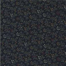 Patchworkstoff Navy Creeping Thyme Thymian Zweige Knospen rot gelb weiß orange grün dunkelblau 9643-14