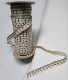 Baumwollband Massband mit cm Einteilung creme 1 bis 20cm