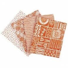 Fat Quarter Paket 45 cm x 55 cm orange weiß gemustert John Lewis Fat65
