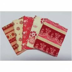 Patchwork Stoff Fat Quarters Paket 45 cm x 55 cm Blumen rot creme bordeaux rosa Fat10
