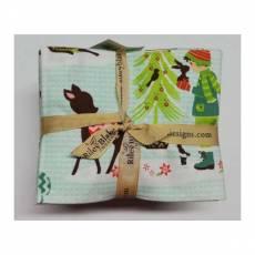 Paket 21 Fat Quarter 45 cm x 55 cm Riley Blake Weihnachten rot grün blau Fat40