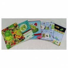 Kinderstoff Patchwork Quilt Stoff Fat Quarter Paket 45 cm x 55 cm Frösche Insekten FatA2