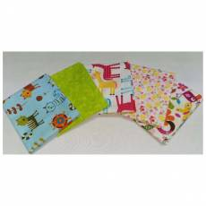 Kinderstoff Patchwork Quilt Stoff Fat Quarter Paket 45 cm x 55 cm Katzen Pferde Blumen Schmetterlinge FatA4