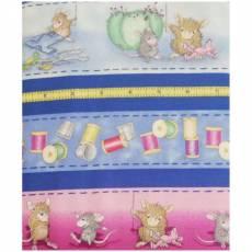 Patchworkstoff Sew Much Fun Mice Maus Nähen Stripes Streifen Border QT-21657 Y