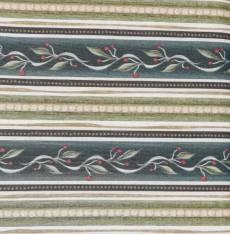Patchworkstoff REST 30 x 110 cm Borderstoff Streifenstoff  Ranken grün creme  RK 23456