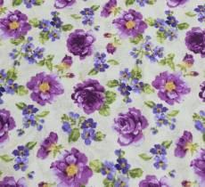 Auslaufmodell Frühjahr Patchworkstoff Rosen lila REST 77 cm x 110 cm NC2064