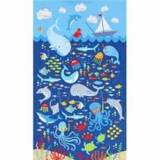 Patchworkstoff Kinderstoff Panel *Sea* Unterwasserszene TT Sea