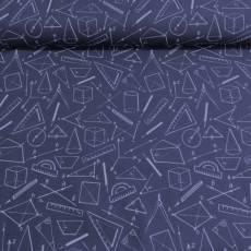Patchworkstoff Überbreite 147 cm Geometrie dunkelblau 080605-640744