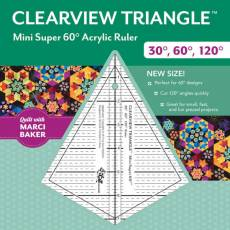 Clearview Triangle Mini Super 60 Degree 7-1/4in Ruler CT 20373