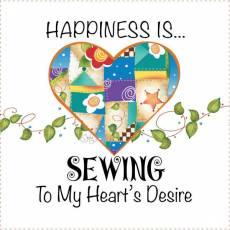 Patchwork Stoff Quilt Art Panel Heart Sew AP6.49