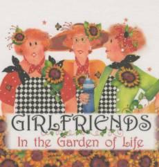Patchwork Stoff Quilt Art Panel Girlfriends Garden AP64