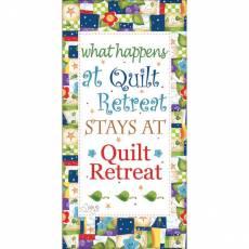 Patchwork Stoff Quilt What Happens at Quilt Retreat Fabric Art Panel JHD6-12QTRT