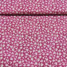 Patchworkstoff Quilt *Rosies* Rosen Röschen rosa weinrot grün QG RU2200-18WR