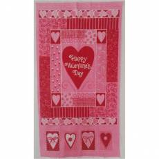 Patchworkstoff Panel (ca. 60cm) *Sweet Hearts* Valentine