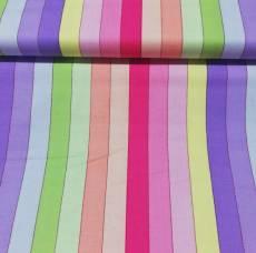 Patchworkstoff Quilt Streifen pink rosa lila grün gelb pastell QT 1649-22031-PL