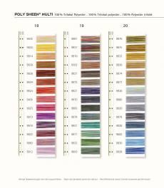 Mettler Poly Sheen Multicolor Polyester Garn Nähgarn 200 m Farbverlaufsgarn Farbkarte 1