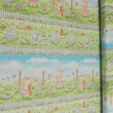 Patchworkstoff Stoff Quilt Ostern *Bunnies* Hasen Blumenwiese TT C7249