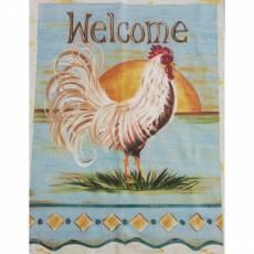 Baumwollstoff Panel *Welcome* Hahn 50 x 60 cm
