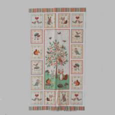 Patchworkstoff Quilt Panel *Doodle Days* 60 x 110 cm Waldtiere MK1879