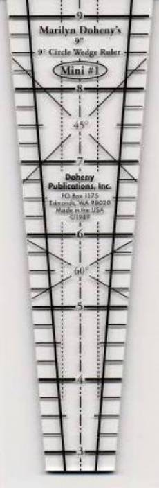 9 Grad Lineal 9 Inch - 9° Circle Wedge Ruler  9-9CWR