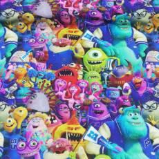 Jersey Kinderstoff little Darling Disney Pixar Monsters University bunt J127-536
