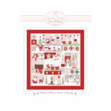 Nähanleitung *Merry Merry Snow Days* Bunny Hill Design 65 Inch x 68 Inch Quilt BHD2141
