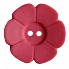 Knopf Kunststoffknopf Zweiloch Knöpfe Blume pink KK114546