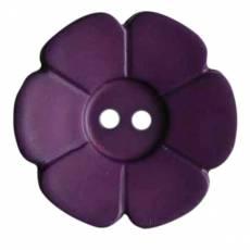 Knopf Kunststoffknopf Zweiloch Knöpfe Blume lila KK114548