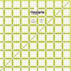 Lineal Neon Ruler 8 1/2  Inch x 8 1/2 Inch Omnigrid OG RN85