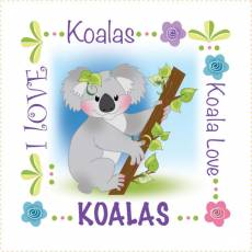 Patchwork Stoff Quilt Art Panel Koala AP675