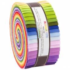 Jelly Roll 2 1/2 Inch Strips 40 Streifen *KONA* cotton solids Robert Kaufman RK-RU-688-40