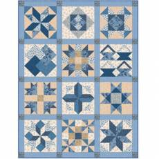 Stoffpaket *Blue Sky* von Edyta Sitar zum Oster Mystery Quilt SP21-0003