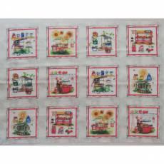 Patchworkstoff Quilt Panel Stoff *Fresh Picked Farm Stand* Marktstand PB FRES-239-MU