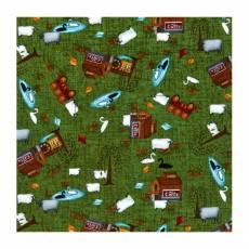 Patchworkstoff Quilstoff *Country Journey* Spring Novelty Green grün Farm HG2431-66
