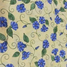 Patchworkstoff Frühling *Garden Sampler* Blumen Ranken blau gelb grün M21-0002