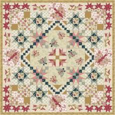 Materialpackung Wandquilt *Frühlingserwachen* ca. 130 x 130 cm Super Bloom