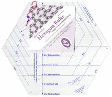 Schablone Marti Michell Hexagon Ruler 6 Sizes 2 Inch to 4 1/2 Inch Lineal MM8060