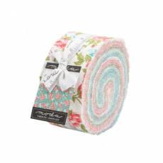Jelly Roll 2 1/2 Inch Strips 40 Streifen *Pocketful of Posies* türkis grün weiß rot Frühling M-33540