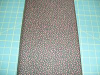 Patchworkstoff Stoff Quilt Small Red Flowers on Black kleine Rote Blumen auf Schwarz 30x110cm