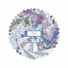 Charm Pack *Awakenings* 42 Squares 5 Inch Frühling lila weiß blau schwarz grau WP 508-669-508