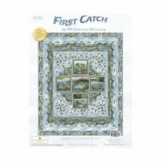 Nähanleitung *First Catch* by McGovern Wildlife Wilmington Prints Extra Large Throw Quilt 64 Inch x 78 Inch WP 3034