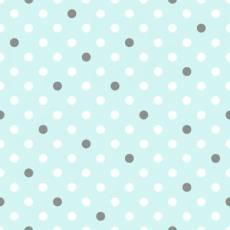Light Turquoise Polka Dots Comfy Flannel türkis weiß grau 12439AE-LTTUR