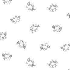 Patchworkstoff White on White Crabs Krabben weiß RAMF4078-W
