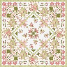 Materialpackung Wandquilt *Frühlingserwachen* ca. 130 x 130 cm Sensibility MP21-0190