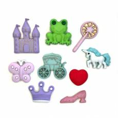 Knopf Packung Happily Ever After Buttons Galore & More Märchen 4337