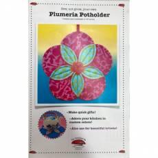 Nähanleitung *Plumeria Potholder* Blume Topflappen LATOD023